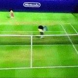 Intense Wii Tennis Match