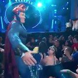 Conan revealing his custom costume created by Ironhead Studios